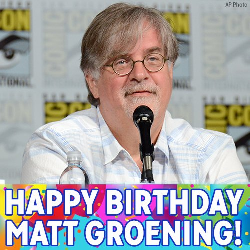 Happy 63rd birthday, Matt Groening!