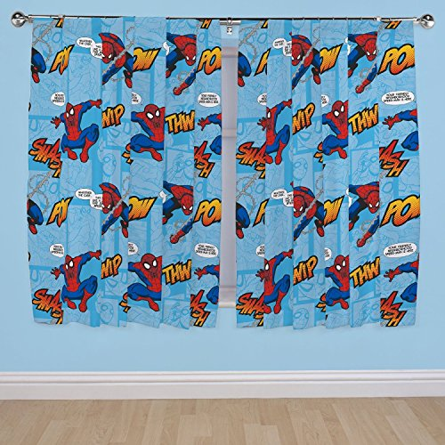 キッズ・子供用 ボーイズ アルティメット・スパイダーマン ペンシルプリーツ カーテンセット 2枚入 子供部屋 キッズルー