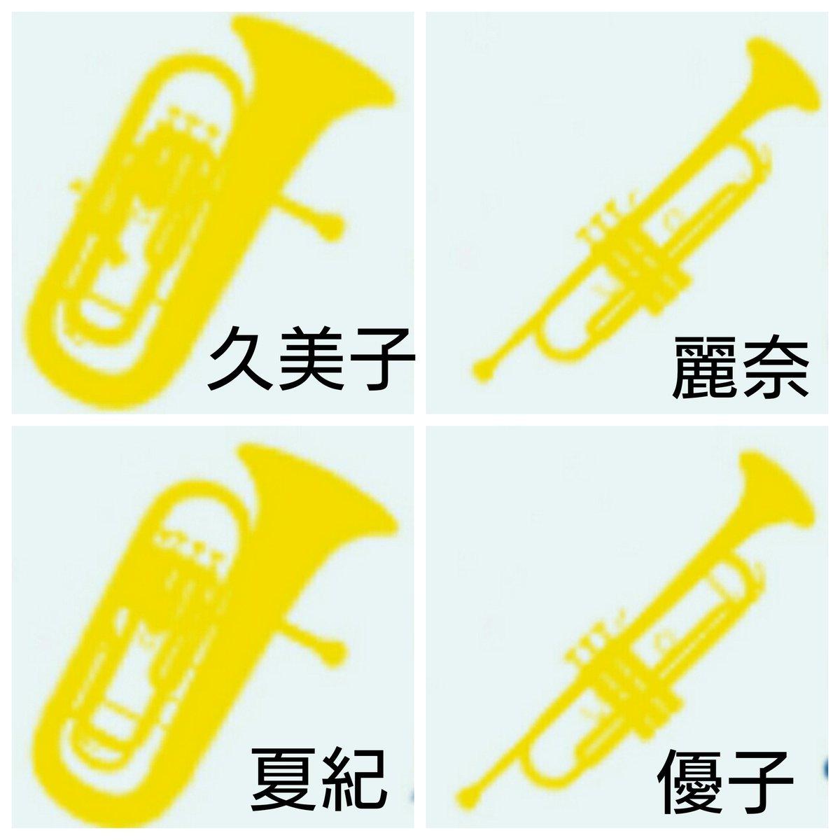 ユーフォ3巻何がすごいって、裏表紙の楽器が、ちゃんとなつきパイセンとゆうこパイセンの楽器になってるって事1巻は久美子と麗