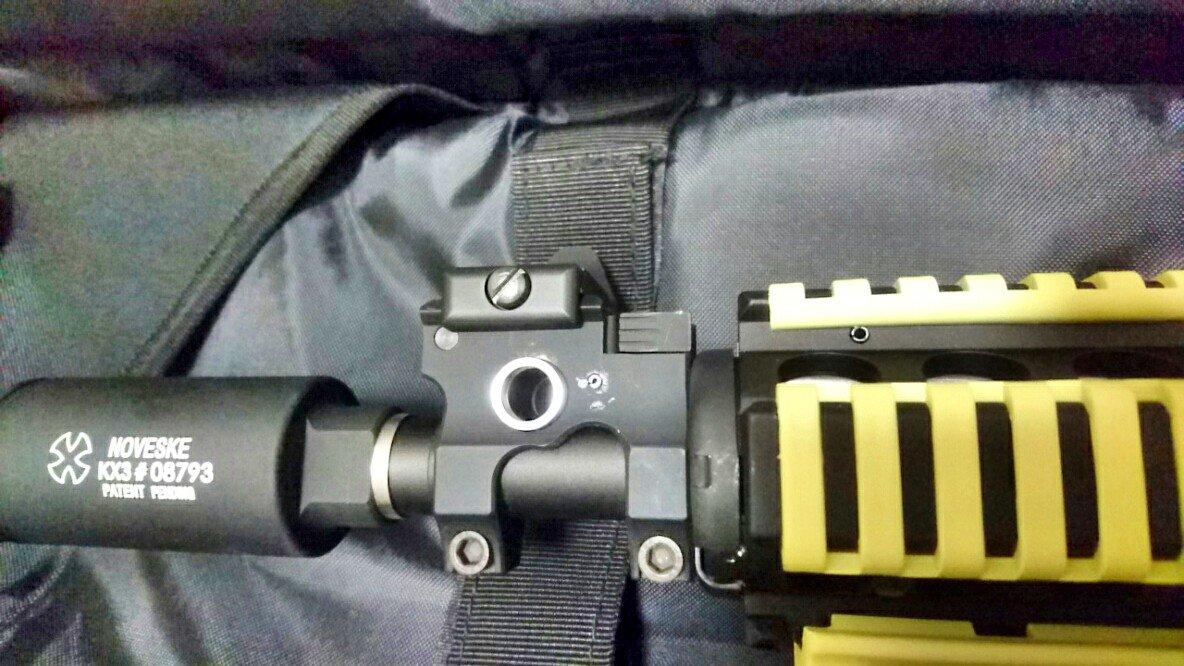 M4A1 CQB-R 麻耶仕様 ver.2をアップグレードしたよ!元々付けてたG&P製VLTORタイプフロントサ