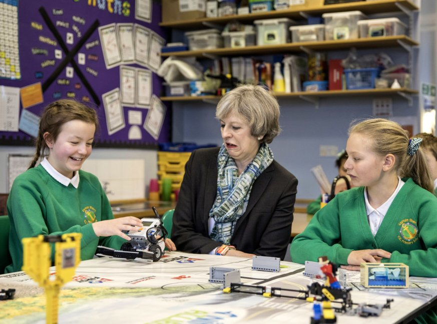 I see Theresa May met some children today.