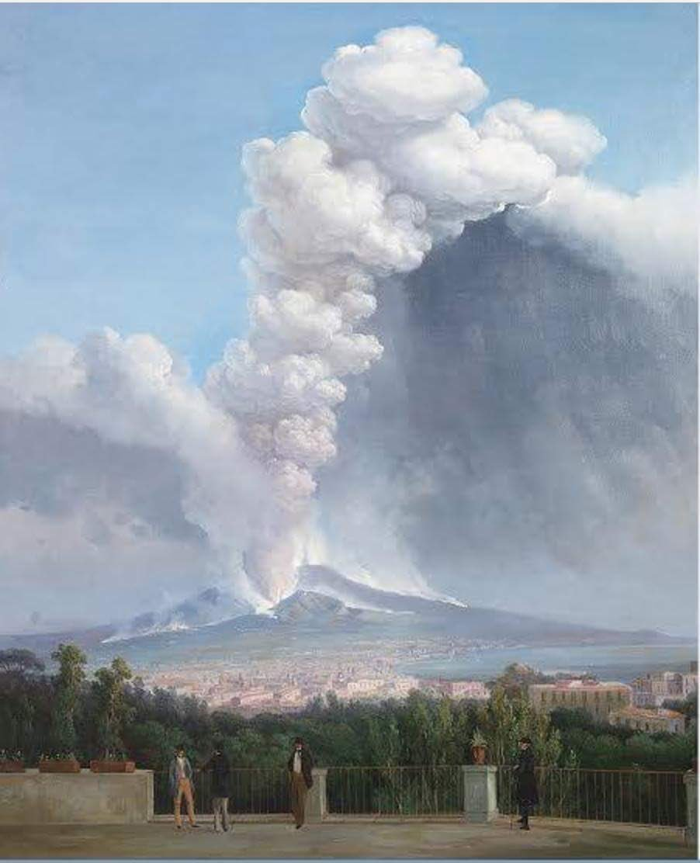 Great painting of Vesuvius by Salvatore Fergola (1799 –1874) via @tiziana_archeo #art #Italy