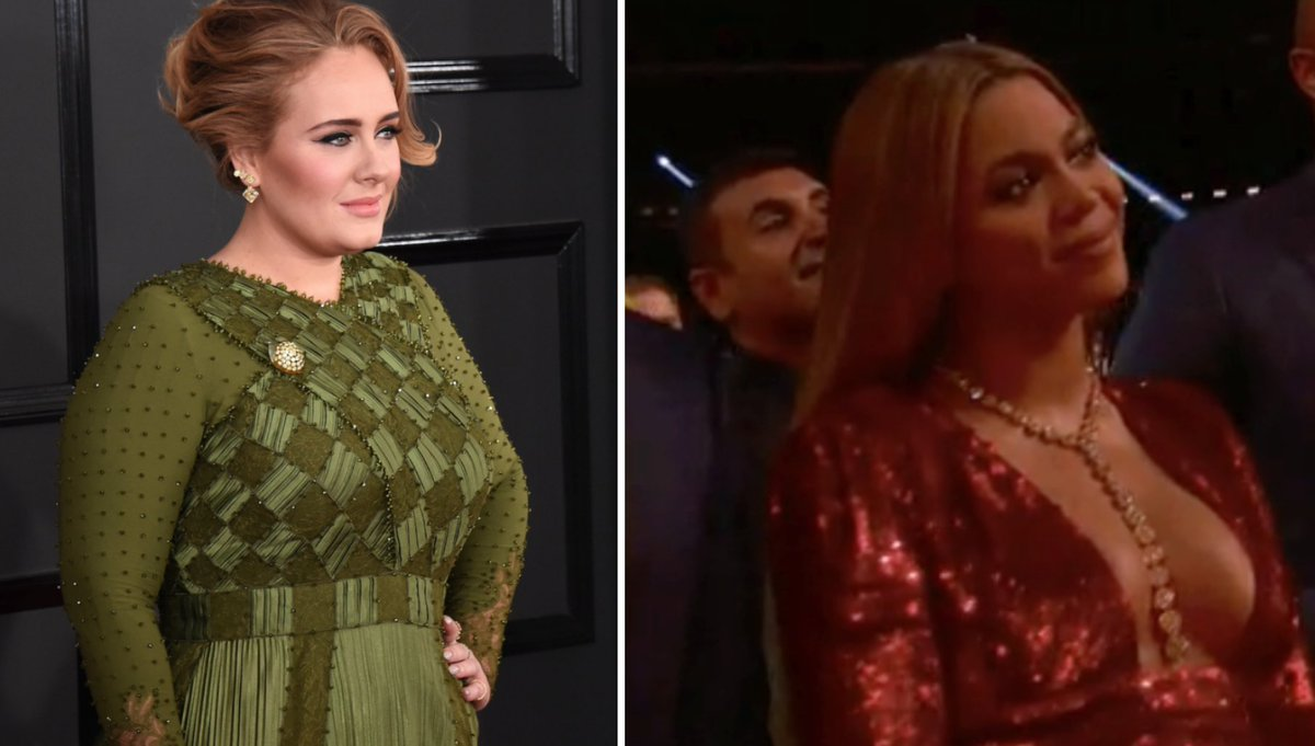 So there was DEFINITELY something going on between Beyonce and Adele at the Grammys...