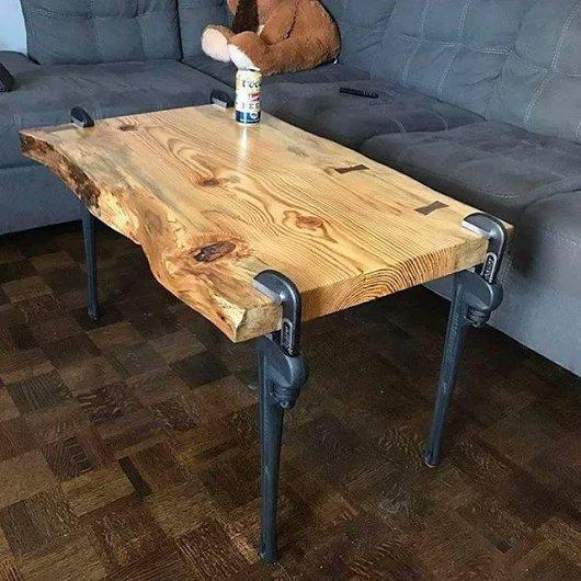 Столы из дерева и металла своими руками 51