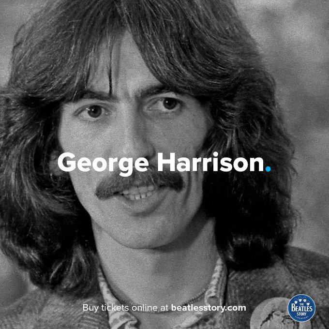 George Harrison would have turned 74 today. Happy Birthday, George.