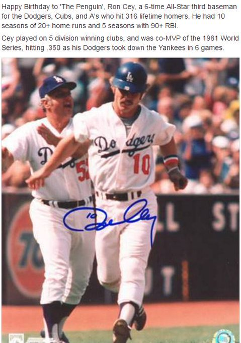 Happy Birthday to Ron Cey!