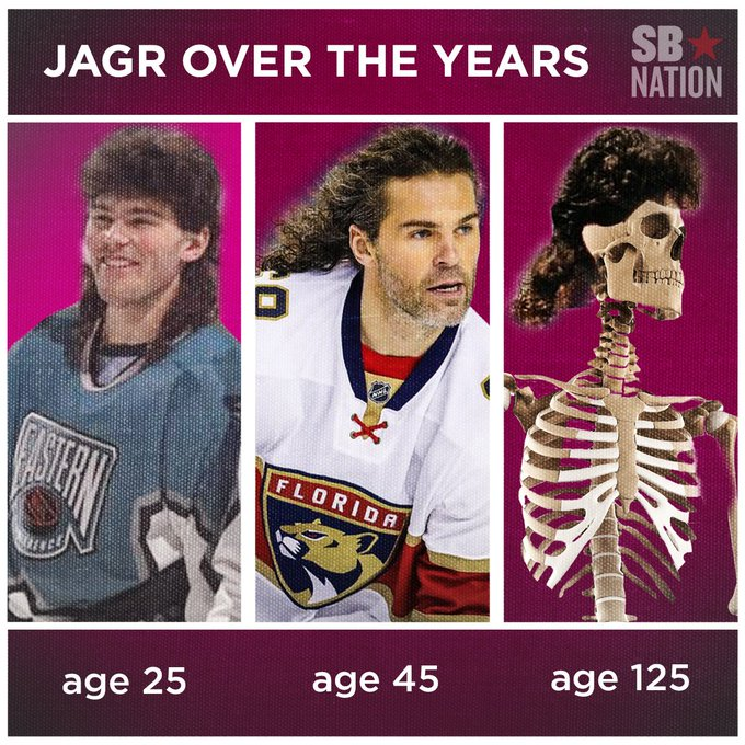 Jaromir Jagr may age, but his hair is timeless. Happy 45th Birthday!