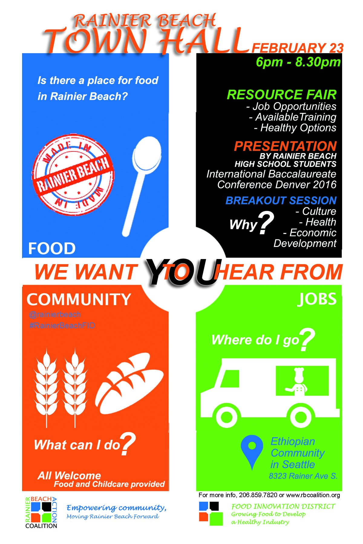 Is there a place for Food in Rainier Beach? We want to hear from YOU. @rainierbeach #RainierBeachFID https://t.co/8PGx6ojRli