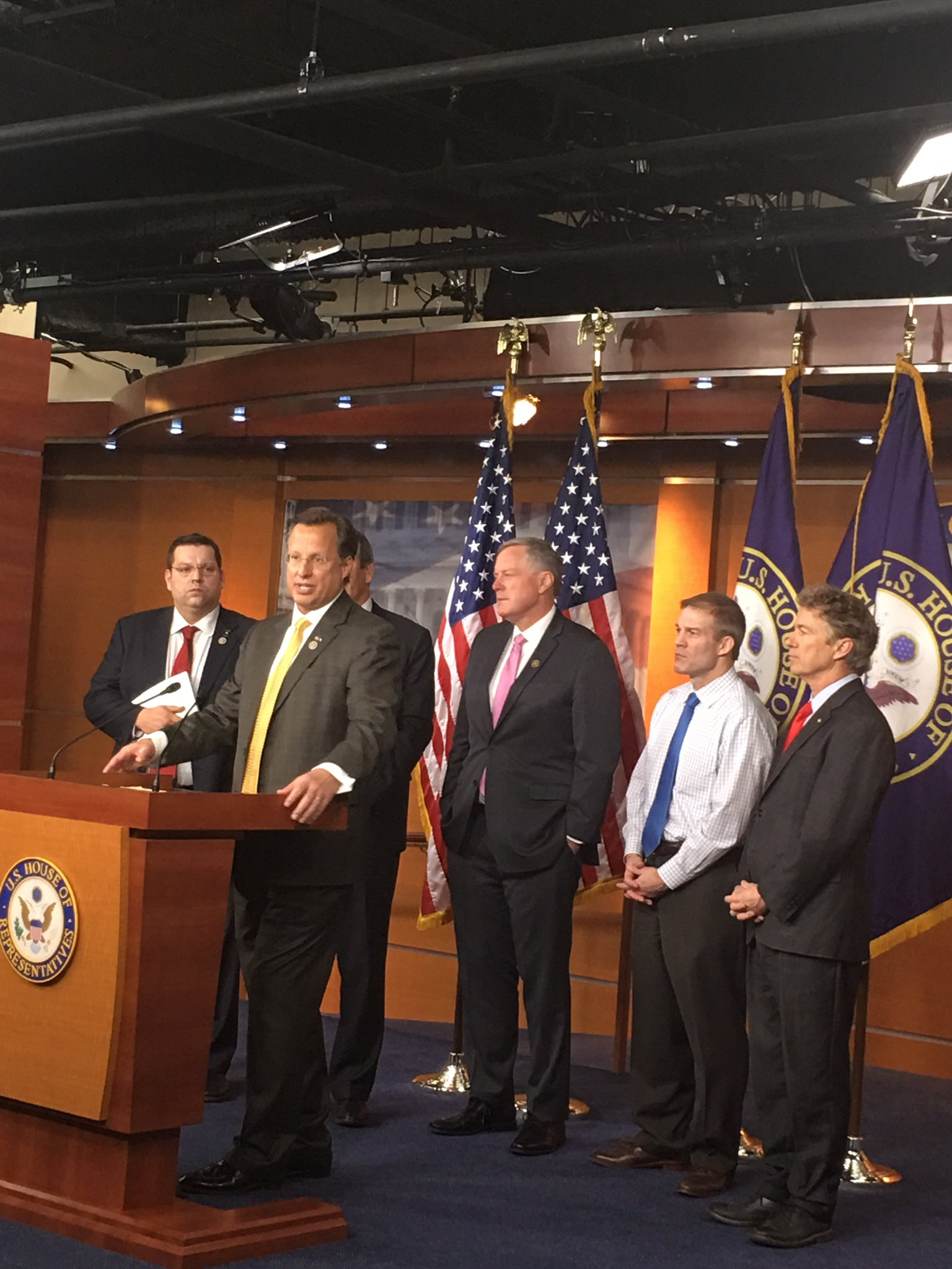 My friends in the @freedomcaucus standing up for freedom, for full repeal, and for my Obamacare replacement plan @RepDaveBrat https://t.co/ZWuR9oftNh