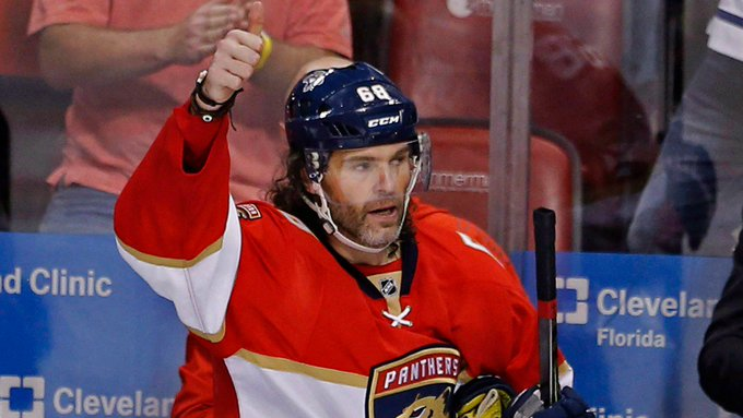 Happy 45th Birthday to Jaromir Jagr! He has 6 points in 7 career games on his birthday (2 G, 4 A).