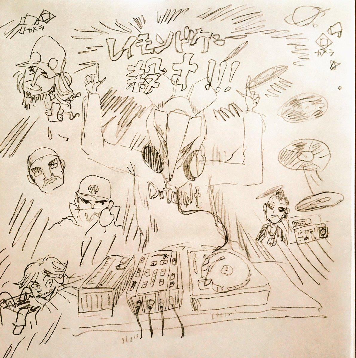 ウォッチドッグス(無印)をプレイした感想を絵にしてみました。とんかつDJアゲ太郎風にしたかったけど私には実力不足でした(