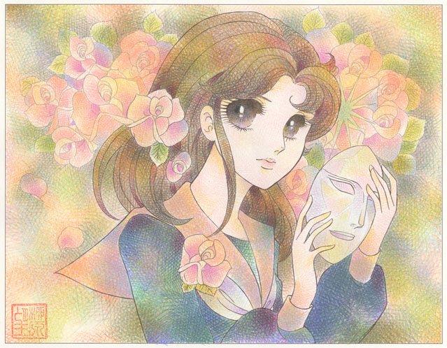 【ぬってみた!】普段はデジタルで制作されている柳原望先生は、色鉛筆によるオールカケアミ仕様。少し離れて見ると不思議な雰囲