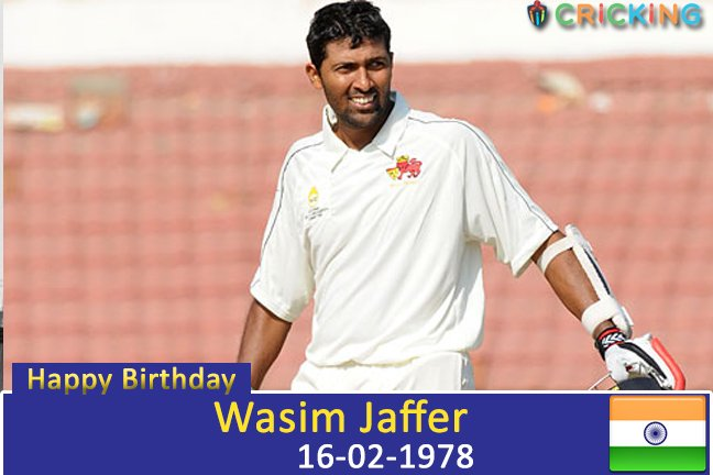 Happy Birthday Wasim Jaffer. The former Indian cricketer turns 39 today.
