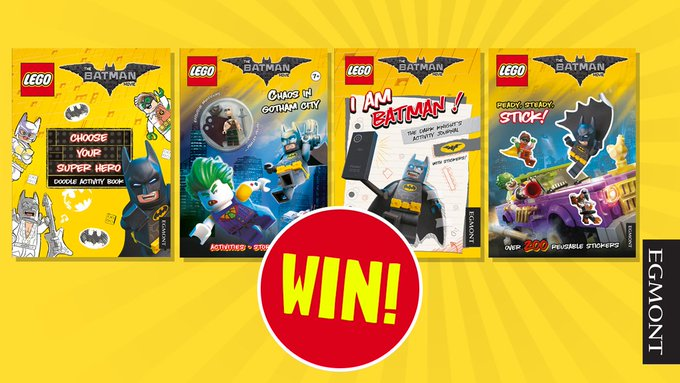 Enter here to win LEGOBatmanMovie Books! FreebieFriday prize giveaway