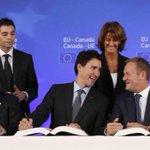 Trudeau touts merits of free trade in European Parliament speech