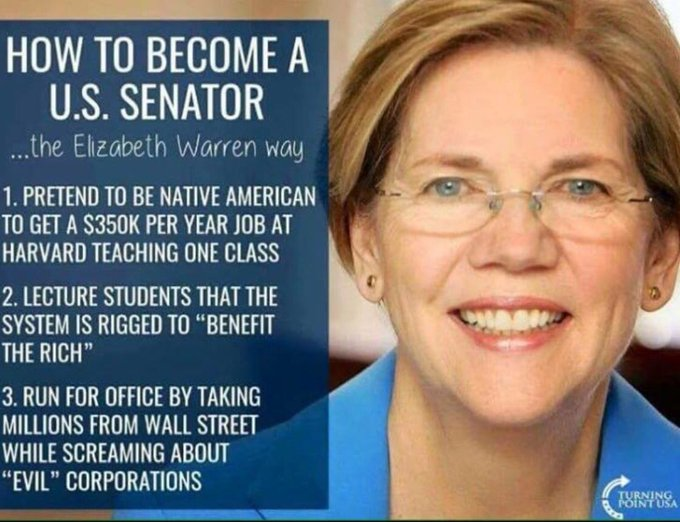 How to become US senator the Elizabeth Warren way  #DayWithoutImmigrants #MAGA #Trump