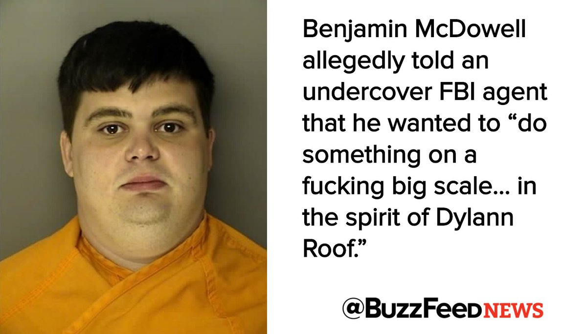 "The FBI arrested a man for allegedly planning an attack ""in the spirit of Dylann Roof"""