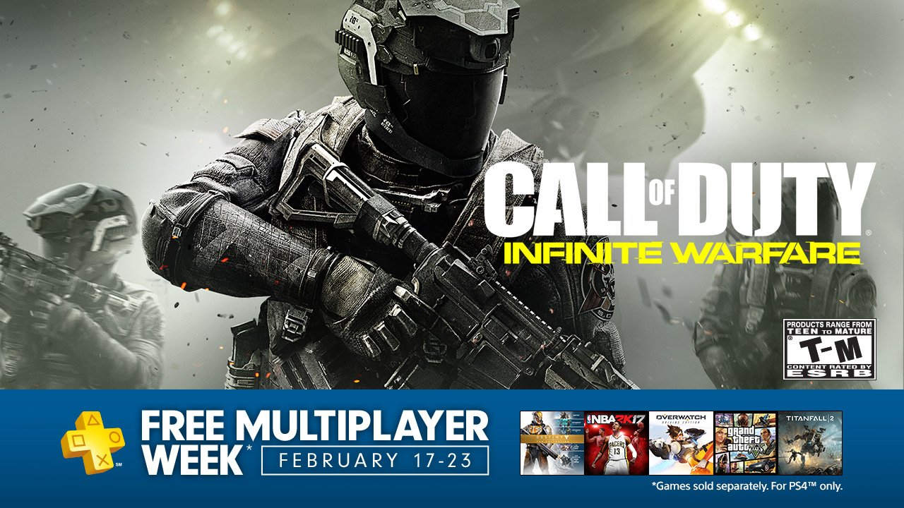 Free multiplayer week on PS4 begins February 17: https://t.co/V5jHkK7Zk4 No PS Plus membership required https://t.co/Nd4NzXoE8O