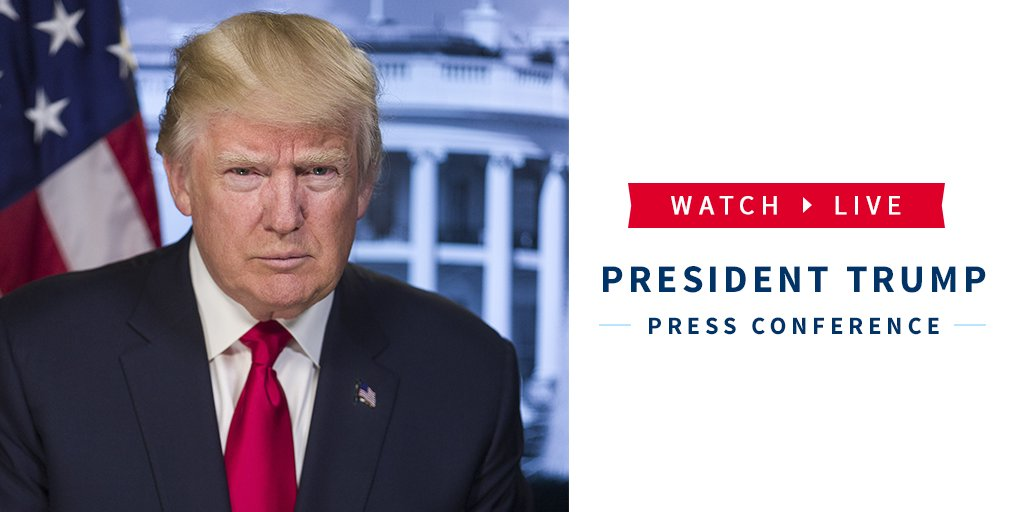 Watch LIVE as @POTUS Trump holds a press conference in the East Room of the White House: https://t.co/1i1w8w6Eky https://t.co/hL2CxGN1UX