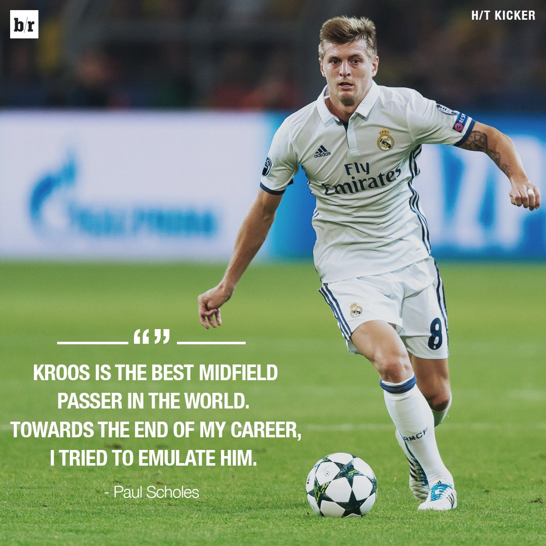 Paul scholes pays toni kroos the ultimate pliment