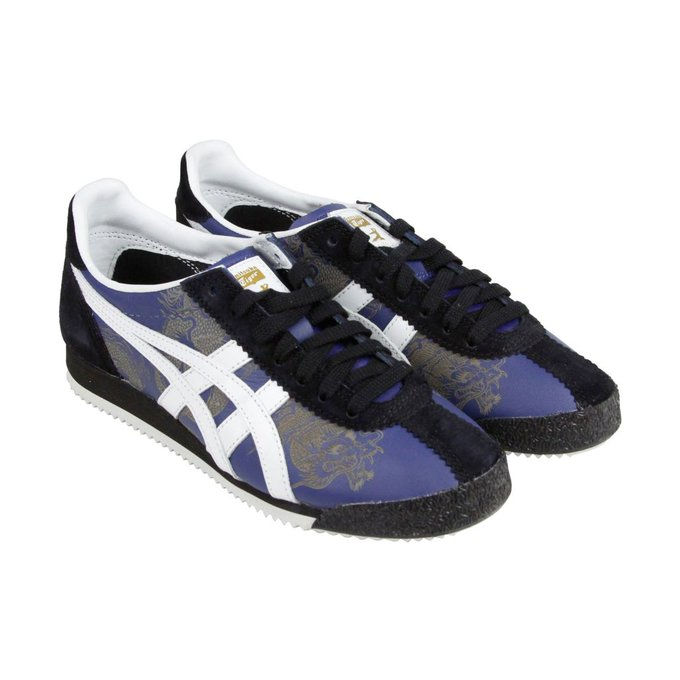 #fashion #style #giveaway Onitsuka Tiger x BAIT x Bruce Lee Tiger Corsair Mens Blue Suede Sneakers #rt
