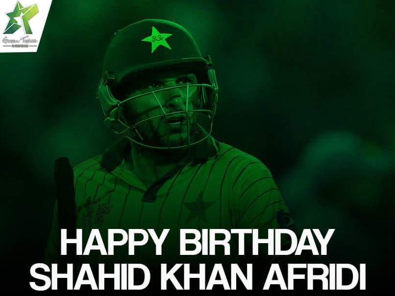 Happy birthday Shahid Khan Afridi! Always been a Fan of your Cricket.