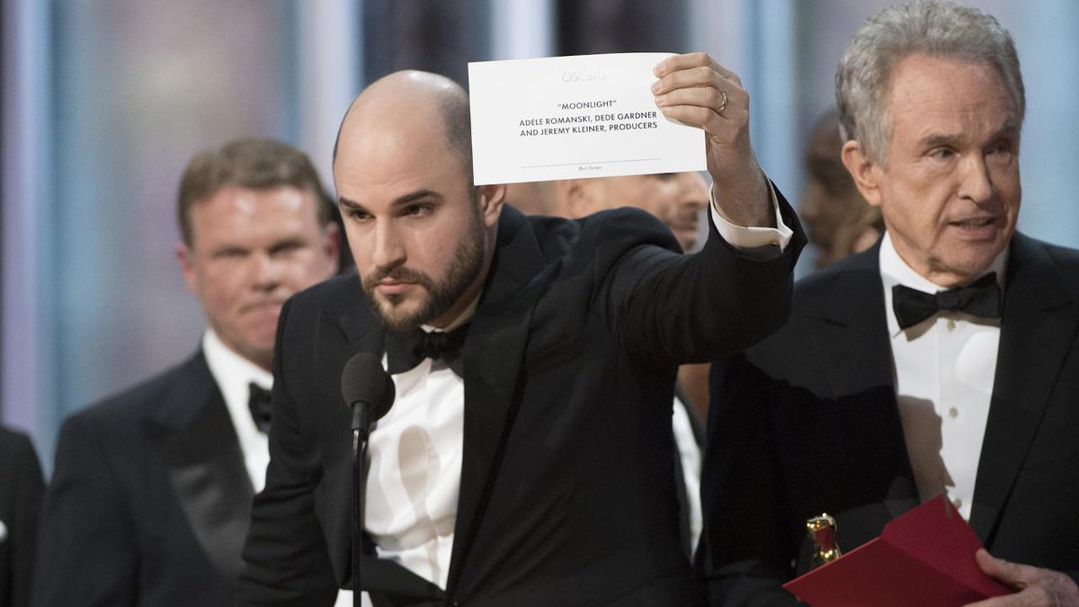 I was backstage during Oscars envelopegate – and this is how the chaos unfolded