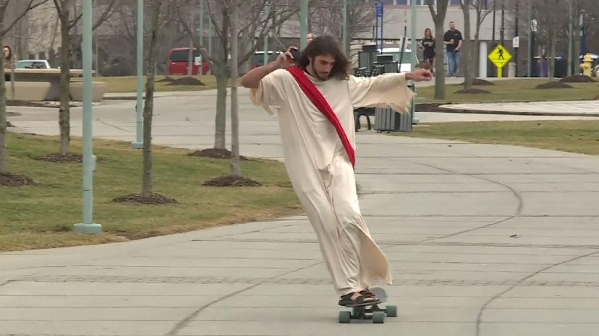 """Longboard Jesus"" is this university's holy roller"
