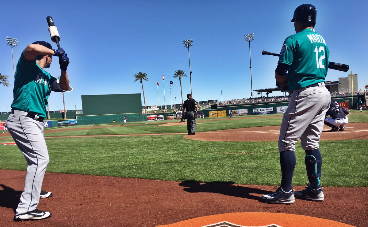 Let's PLAY BALL! #Mariners vs. Indians is underway ...