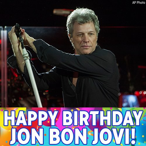 Happy birthday to New Jersey native Jon Bon Jovi!