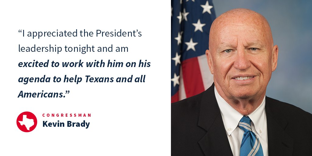.@RepKevinBrady on last night's #JointAddress https://t.co/u3a5qlAYS1