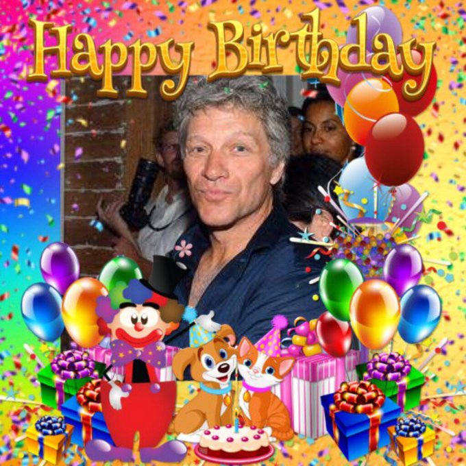 Happy birthday Jon Bon jovi for tomorrow xx