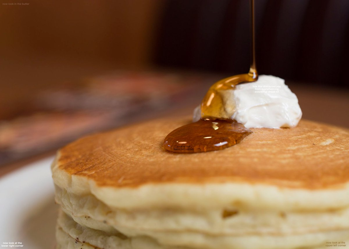 zoom in on the syrup