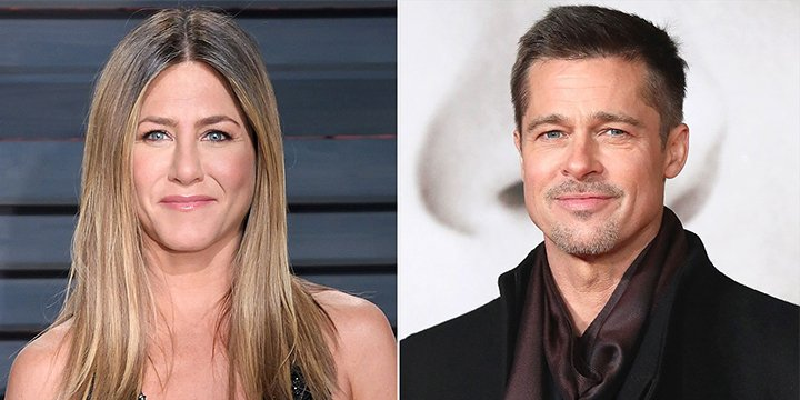Brad Pitt and Jennifer Aniston 'have been friends for a while' and text, source says