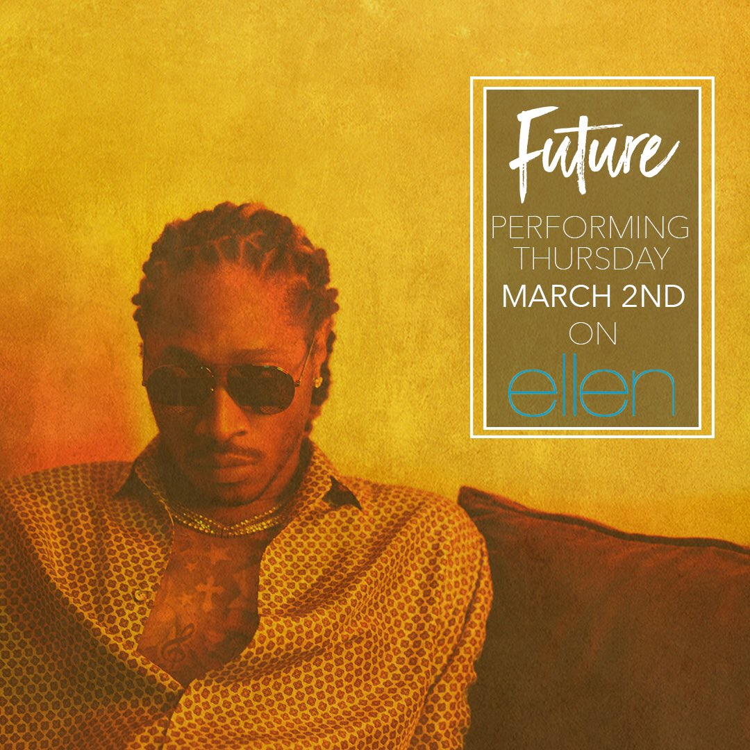 Catch @1future performing tomorrow on @TheEllenShow ‼ #beEPIC #FUTURE #HNDRXX https://t.co/B7RDjRqFfX