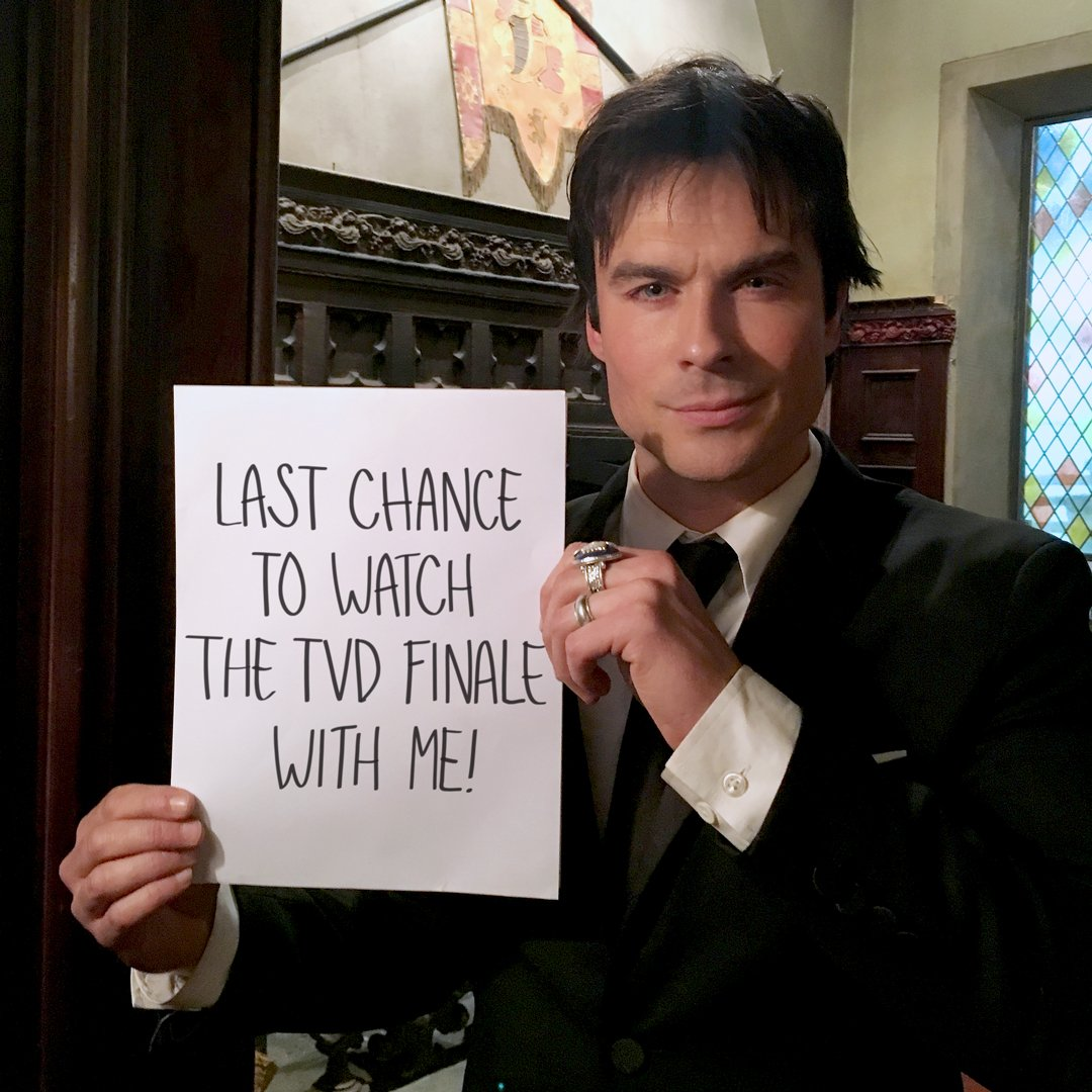I'm flying YOU out to watch the final episode of The Vampire Diaries with me! Enter to WIN: https://t.co/kLV6GjmjDe https://t.co/1mlBjkH4v8