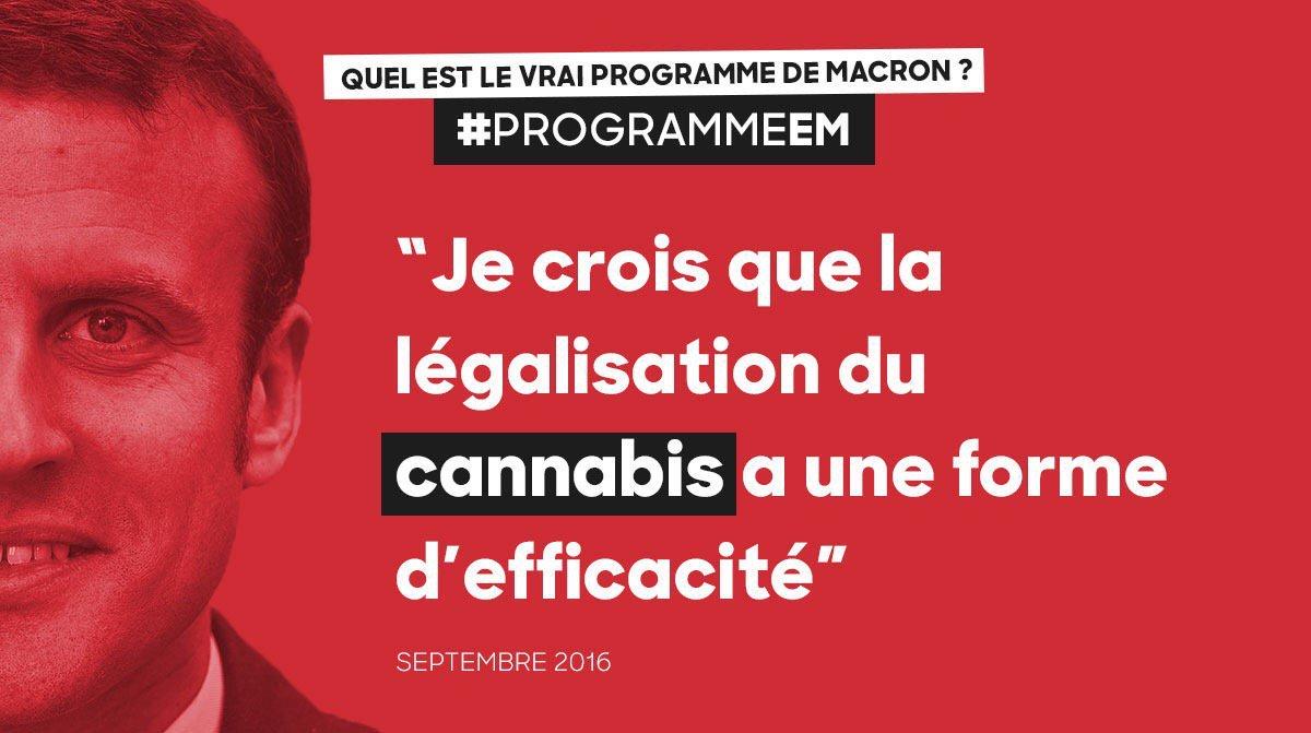 #Macron est pour la légalisation du cannabis ! #StopMacron #ProgrammeEM #FillonPresident https://t.co/z8c8t6phPA