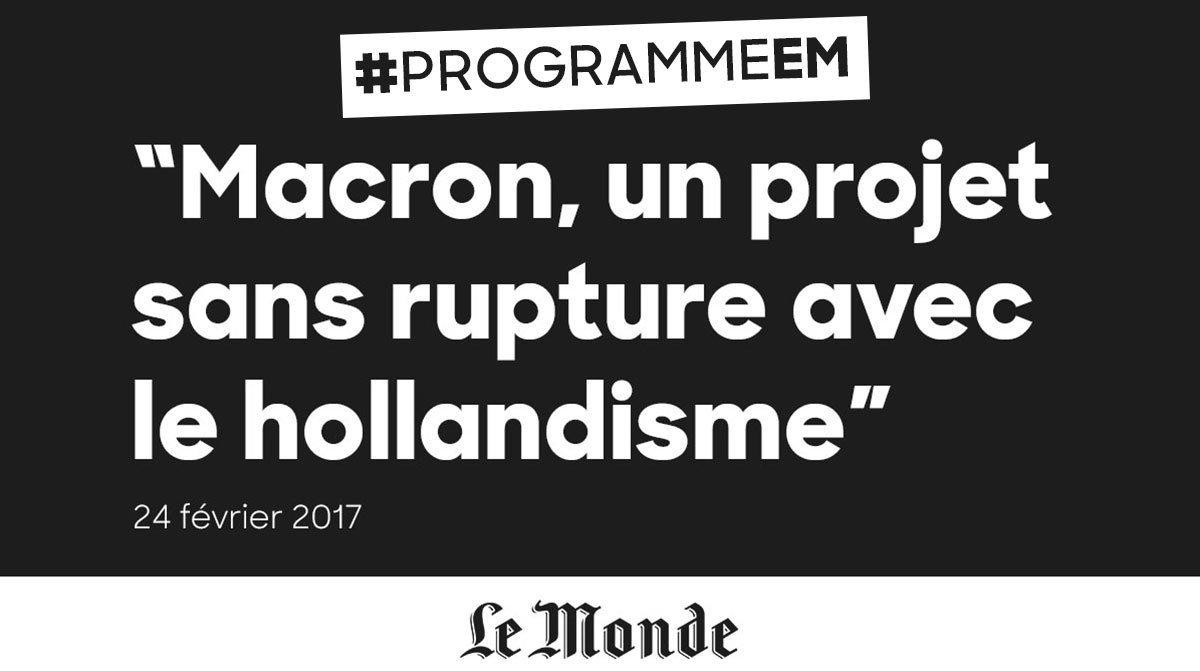 Avec #Macron ce sera 5 ans d'échec comme avec Hollande ! #ProgrammeEM #FillonPresident https://t.co/nJQjbwfF7H