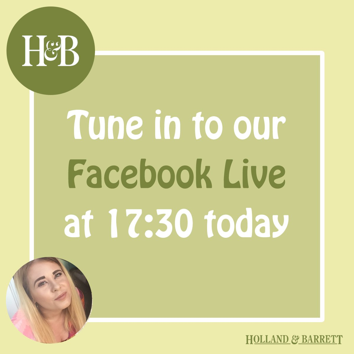 Tune into our Facebook Live at 17:30 this evening for expert advice & the chance to #win goodies! https://t.co/9b39BD3dWs