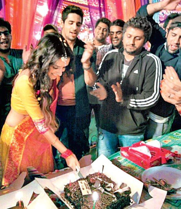 Ek Villain Diaries.....Cutting the Cake on the Sets...       Happy Birthday Shraddha Kapoor