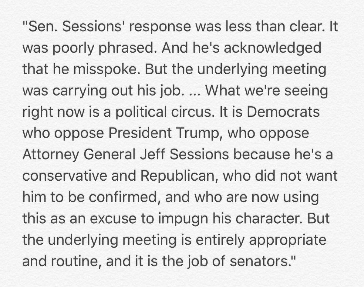 Ted Cruz says Sessions is facing a 'political circus.' He also says he personally met with six ambassadors in January and February.