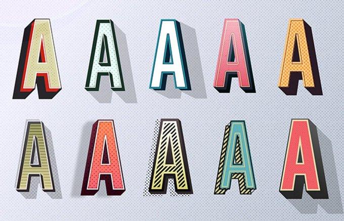 10 estilos grficos para darles un aire retro a tus textos en Illustrator: freebies diseo