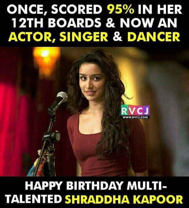 HBD most talented ,cutest, sweetest Happy Birthday Shraddha Kapoor