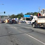 Major Brisbane road closed after pedestrian hit by vehicle