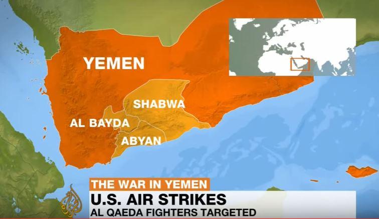 Pentagon says 20 US air raids targeted al-Qaeda in Yemen on Thursday