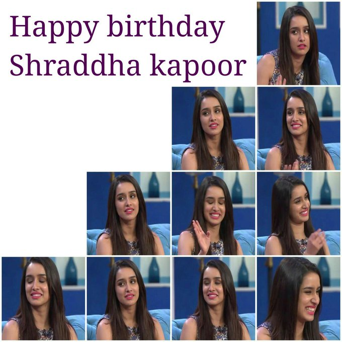 Happy Birthday Shraddha Kapoor !! Stay bless ... Keep smiling