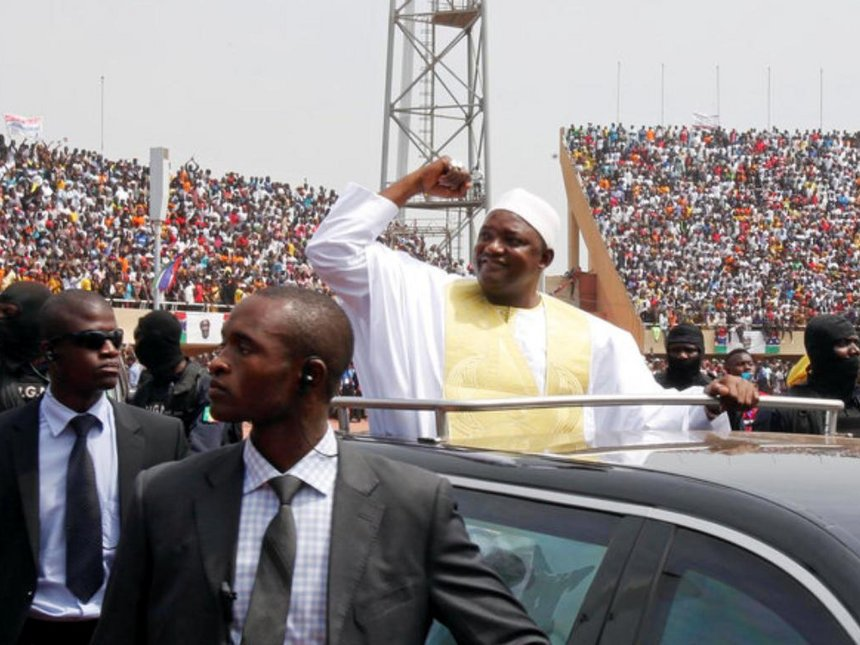 Barrow sworn in at packed stadium, pledges to revive economy