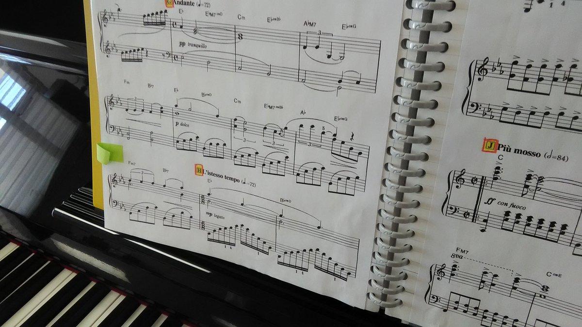 今夏投入予定の一曲(5分未満部門)。一年ぶりに譜読みしてみるものの難所アルペジオが当たらん。