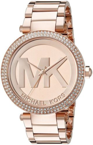 Michael Kors Women's MK5865 Parker Diamind Rose Gold-Tone Stainless Steel Watch