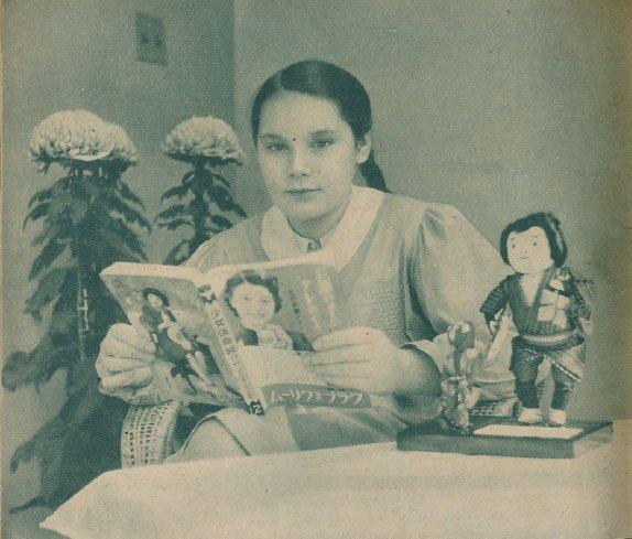 ゾルゲ事件発覚から1年後に北京へと左遷された駐日ドイツ大使・オットー氏の令嬢ウルツラさん、来日した直後(13歳)の写真が